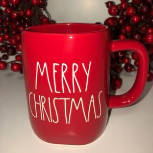 New Rae Dunn Red Merry Christmas Mug